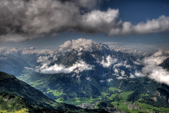 view from Fronalpstock @ glarus switzerland (Toni_V) Tags: sky mountains alps nature clouds landscape schweiz switzerland europe suisse hiking 2008 hdr glarus randonne d300 photomatix fronalpstock klntalersee 3exp capturenx toniv freehandhdr 16082008 toniv 1685mmf3556gvr