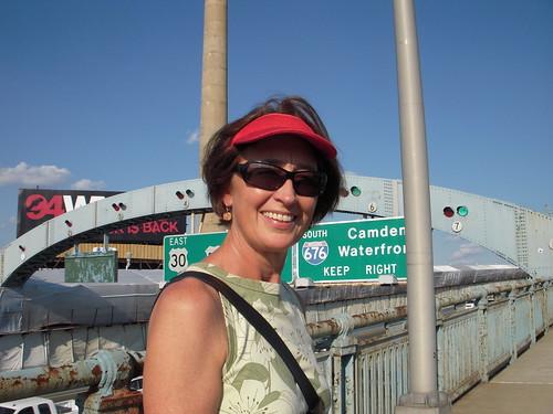 Ann Northrup on Ben Franklin Bridge