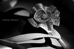 my wife's favorite (BEY CHUA) Tags: light blackandwhite flower dark design sandals monotone flipflops lightandshadow slippers bey tsinelas aplusphoto