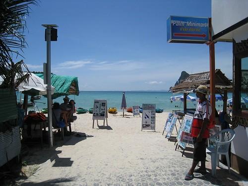 Approaching Phi Phi's main beach