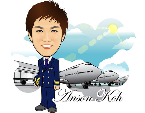 Q-Digital Caricature - Air Steward