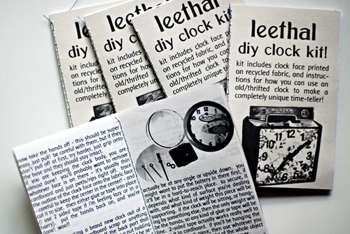 clock kit zines