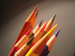 (jillien) Tags: pink orange brown black green yellow magenta indigo coloredpencils schoolsupplies