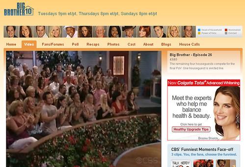 Big Brother 10 Screen Capture September 9