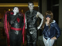 Three Mutants Walk Into a Bar... (BelleChere) Tags: costume cosplay xmen colossus shadowcat dc08 kittypryde mistersinister dragoncon2008
