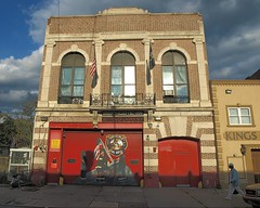FDNY Firehouse Engine 255 & Ladder 157, Flatbush, Brooklyn, New York City (jag9889) Tags: county city nyc house ny newyork building station architecture brooklyn truck fire engine company kings borough ladder rogers firehouse avenue fdny department firefighters flatbush 157 bravest 255 jollyrogers rogersave engine255 ladder157