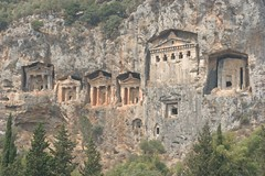 Lycian Rock Tombs (curreyuk) Tags: cruise turkey river boat turkiye tombs dalyan anatolian lycian mugla currey caunos kaunos mywinners abigfave lifethroughalens grahamcurrey elitephotography theperfectphotographer goldstaraward worldtrekker curreyuk rubyphotographer peachofashot