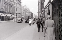 Oxford Street, London, c. 21 June 1958 (allhails) Tags: london buses woolworth routemaster oxfordstreet rtl waringandgillow df07 austinfx3