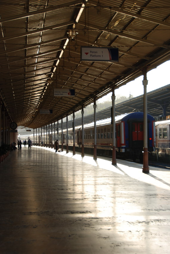 Platform in Sirkeci 錫爾凱吉車站的月台