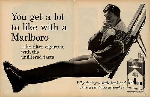 1960 Marlboro Cigarette Skis Skier 2-Page