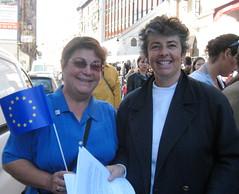Mouvement Europen des Hauts-de-Seine, Agns Bauche et Martine Cabanne (Grbert) Tags: puteaux cabanne bauche mouvementeuropeen