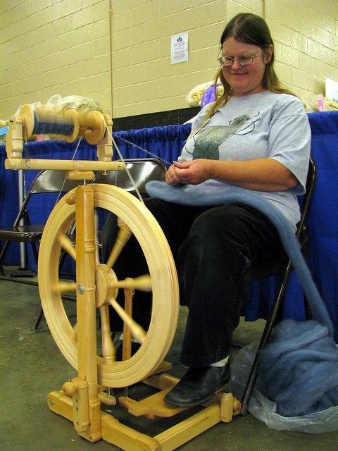 100 Things to see at the fair #44: Spinning Wool