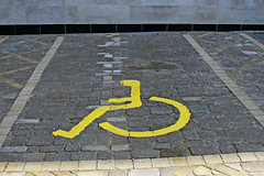 disabled parking space (Leo Reynolds) Tags: canon eos iso400 wheelchair 28mm f11 30d 0003sec 0ev hpexif groupwheelchairs xleol30x xratio3x2x xxx2008xxx
