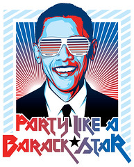 Barack Star Art (Mel Marcelo) Tags: illustration vectorart elections grafx graphicarts adobeillustrator barackobama shirtart shuttershades melmarcelo meltendo mpyregraphics melitomarcelo