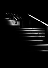 Cut through the Dark (Evan Stoecker) Tags: light white black night stairs shadows steps calpoly upward superaplus aplusphoto artlegacy