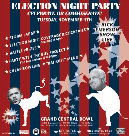 WW Election Night 08 Party Invitation
