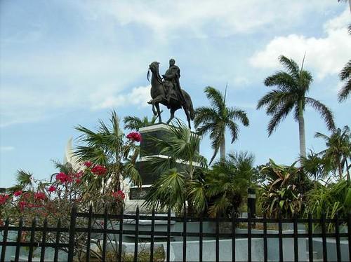 Statue to Simon Bolivar, Managua