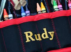 Ahoy Matey Pirate Crayon Roll (RetroRugrats) Tags: crayolas crayoncaddy crayonrolls retrorugrats crayonorganizer handmadechildrensaccessories
