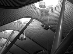 Madrid Airport (roo pokomon) Tags: bw spain madridbarajasinternationalairport