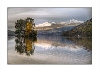 Loch Tay and Mountains