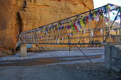 Bridge below Chele (Andreas' Photos) Tags: nepal jomsom kagbeni chele uppermustang