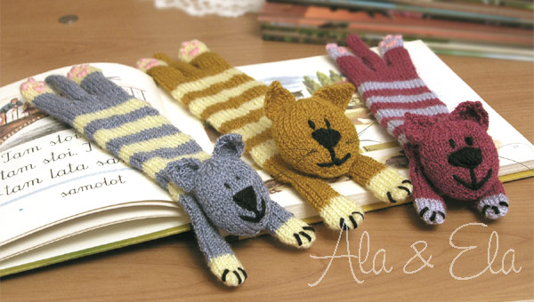 Knitted Toys Cat Bookmark