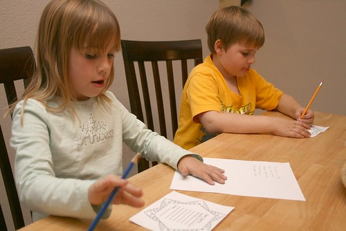 Kids Writing Santa Letter
