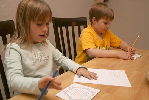 Kids Writing Santa Letter