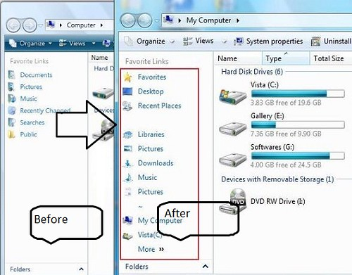 How To Get Windows 7 Explorer Pane In Vista pic1