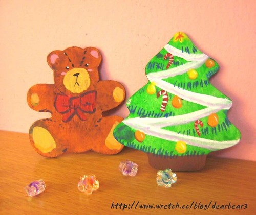 teddy & xmas tree by you.