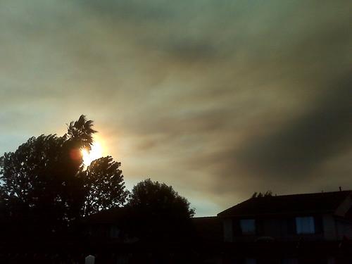 Smoke and sun