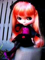 Pulverized plumocity. (svohljott) Tags: doll rosebud eden blythe sbl mrb mademoisellerosebud wardrobeaminicole