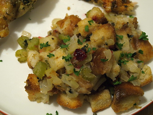 Fennel, apple, and cranberry stuffing