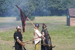 IMG_5417 (jgmdoran) Tags: canon flags archer reenactment 2007 militaryodyssey platemail lancastrians billhook arquebus waroftheroses highmedieval yorkists
