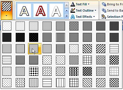 Pattern Fills add-in from PowerPoint