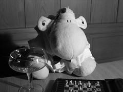 Day 354 - You must remember this... (Shaun_Sheep) Tags: blackandwhite bw sheep drink piano chess bowtie button casablanca shaun chocolatemilk humphreybogart peterlorre dinnerjacket astimegoesby project365 michaelcurtiz youmustrememberthis shaunscafé