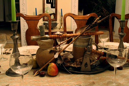 Black Thursday Table Setting