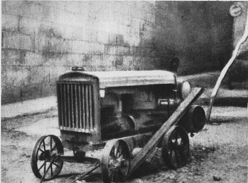 Compresor neumático que accionaba las perforadoras de las dos minas cavadas para volar el Alcázar por los republicanos
