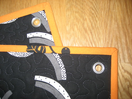 Grommets and quilting