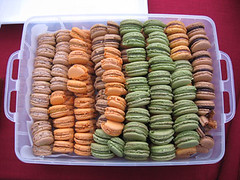 The macaron samples