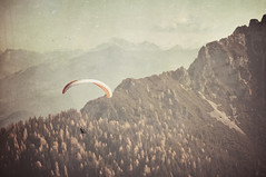 {learning.to.breathe} (miliana.) Tags: autumn mountains texture nature forest vintage austria retro berge textures paragliding paraglider maurach gleitschirm texturen gleitschirmfliegen rofan nikkor85mmf18 nikond300
