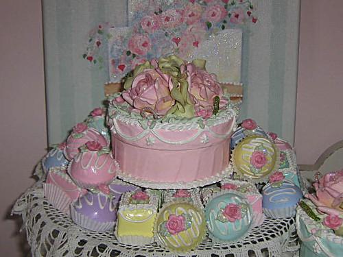 Pink Rose Cake Box