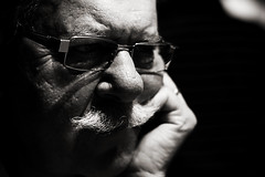 Tribute to my father... (Christine Lebrasseur) Tags: portrait people blackandwhite man france male art canon daddy father elderly santaclaus raymond tribute aged retired mustaches theface allrightsreservedchristinelebrasseur