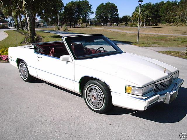 convertible cadillac 1989 deville