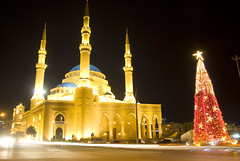 Christmas Spirit (A. Saleh) Tags: tree lights christmastree beirut longshutter mousque nikond200 downtownbeirut asaadsaleh theunforgettablepictures alaminmosque wwwasaadsalehcom simplystunningshots lebanonnights longnightshot