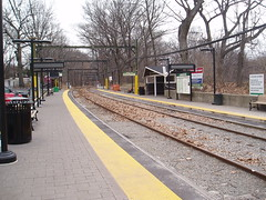 Longwood Station before the snow, 12/19/08 12 pm