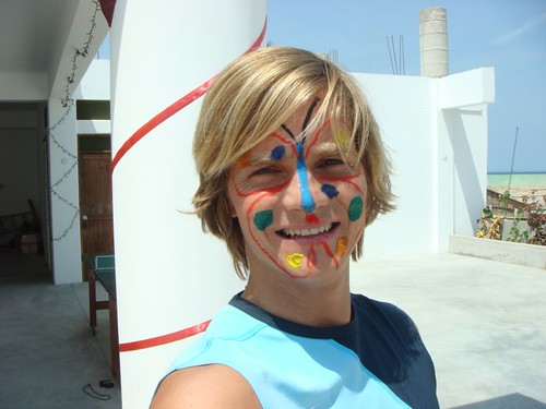 The face-painted version of me...