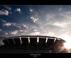 San Nicola Stadium (Bari -Italy) (Michele Cannone) Tags: italy sport football stadium soccer badge puglia architettura bari calcio stadio attività
