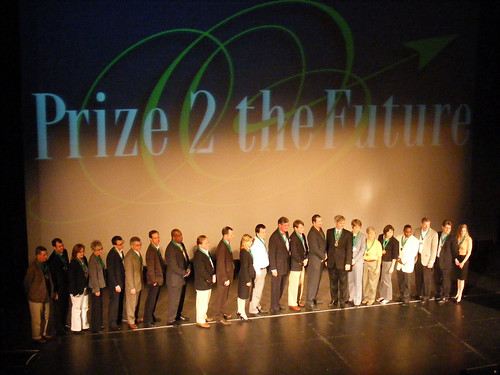Prize2TheFuture finalists on stage. acnatta/Flickr