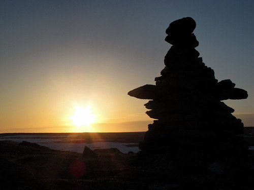 Inukshuk and sunset